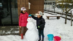 雪だるまはリクエストにより3段