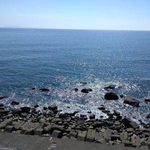 海がキレイでした